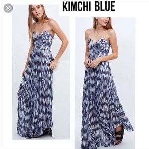 Kimchi Blue multi colored maxi dress